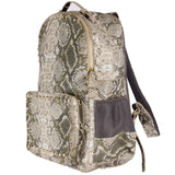Grey Studded Python Backpack
