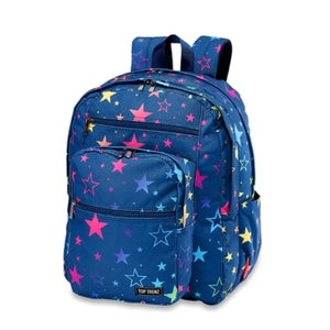 Navy Rainbow Star Canvas Backpack