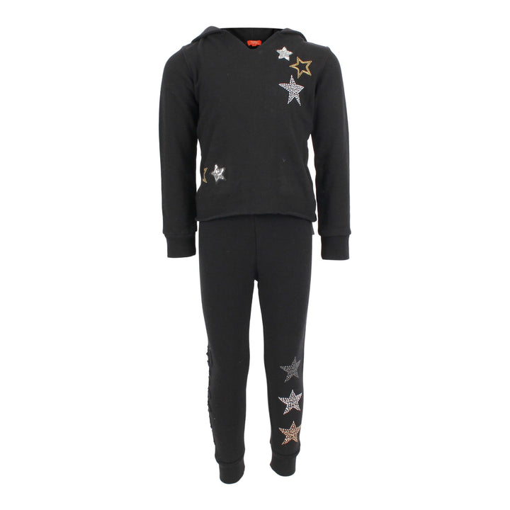 2 Piece Fleece Pullover Hoodie/Jogger Set with Stars