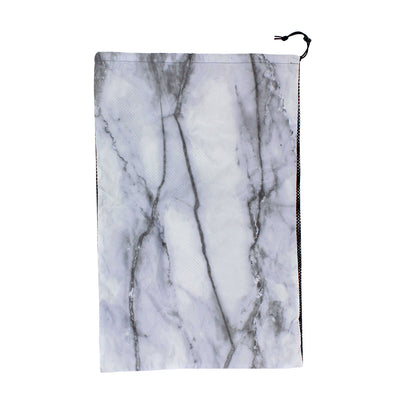 Black and White Marble Laundry Bag