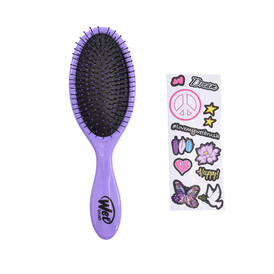 Peace Hair Decal Wet Brush