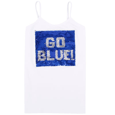 Tank with Reversible Sequin Go Blue