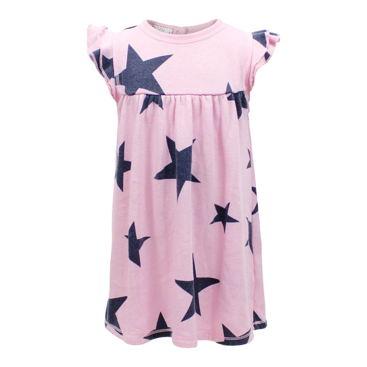 Flutter Sleeve Dress with All Over Stars