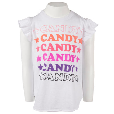 Flutter Sleeve Top with Candy Star