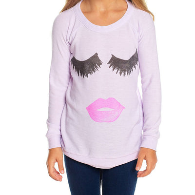 Lips and Lashes Long Sleeve Cozy Knit