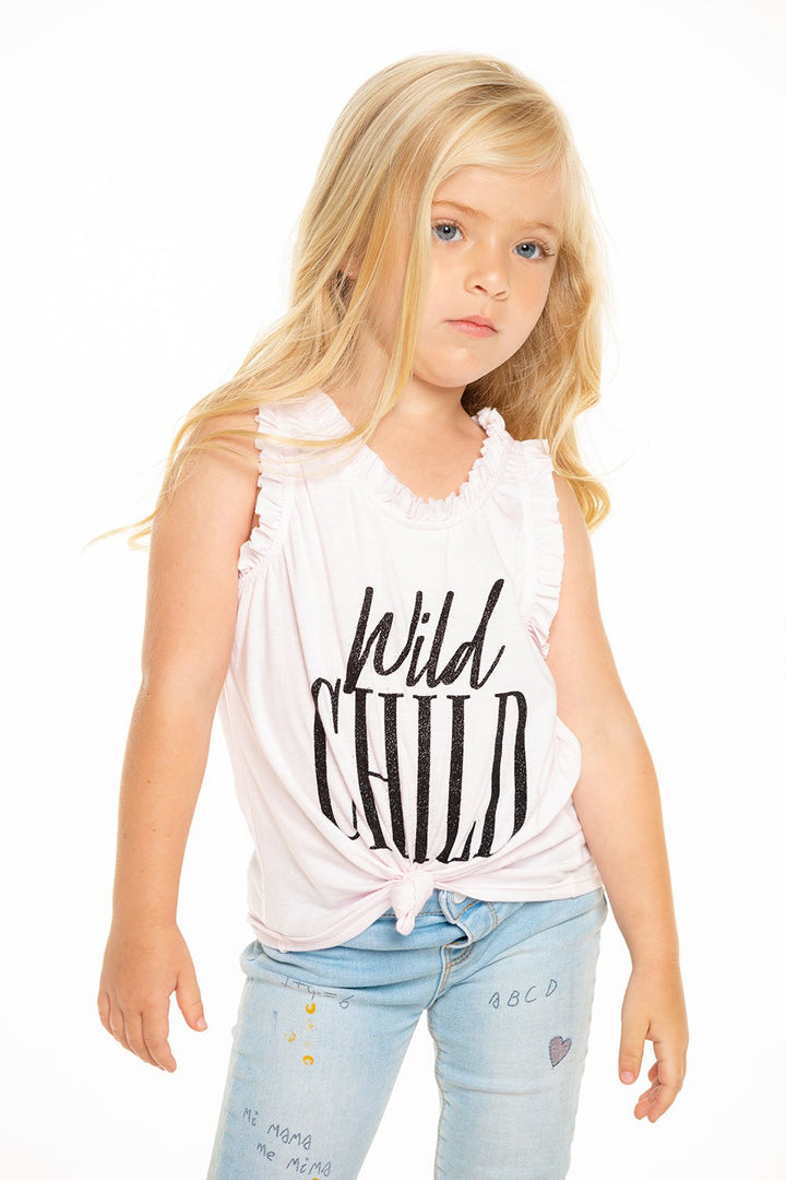 Vintage Jersey Ruffle Tank with Wild Child