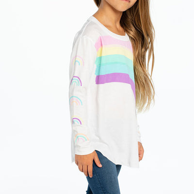 Long Sleeve Vintage Jersey with Rainbows