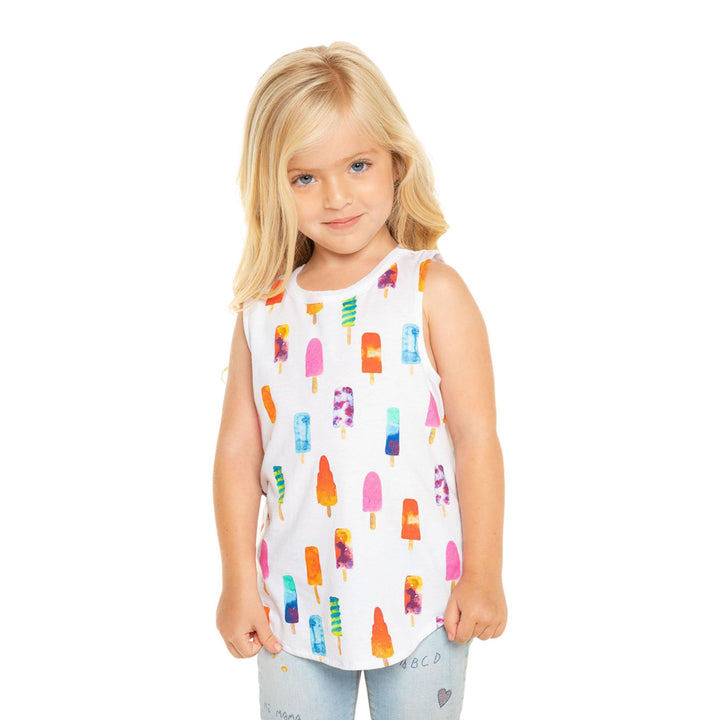 Vintage Jersey Tank with Popsicles