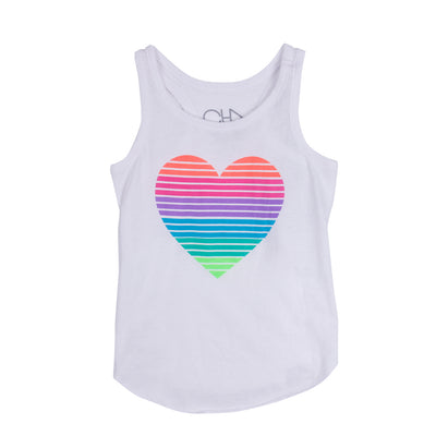 Tank with Stripe Heart