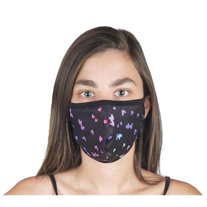 Mini Heart Multi Mask 96% Poly 4% Spandex