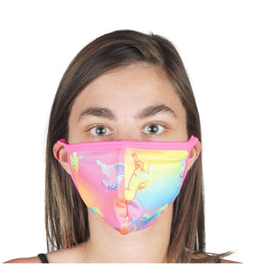 Outline Unicorn Mask 96% Poly 4% Spandex