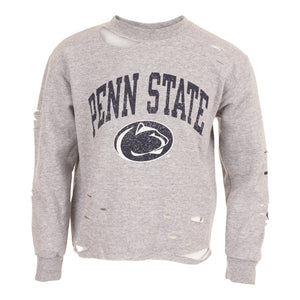 Penn State Cropped Crew Sweatshirt with Cuts