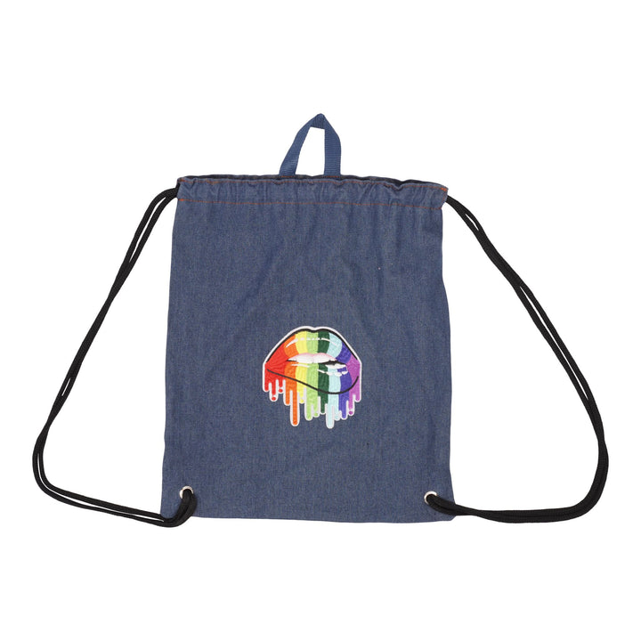 Drippy Mouth Drawstring bag
