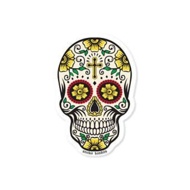 Rose Skull Sticker