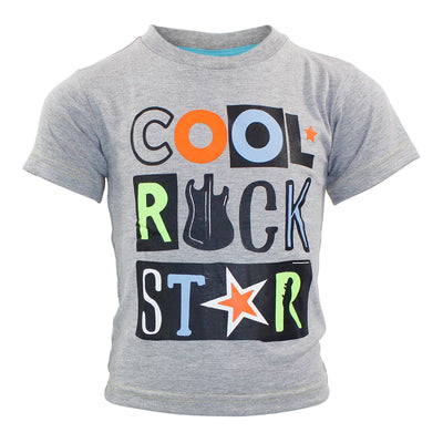 Short Sleeve Tee with Cool Rock Star