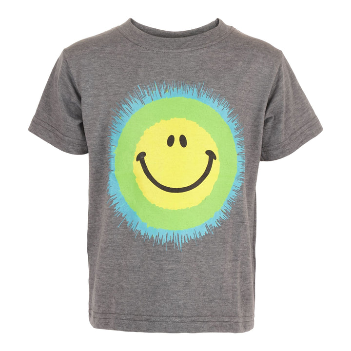 Smiley Splatter Distressed Tee