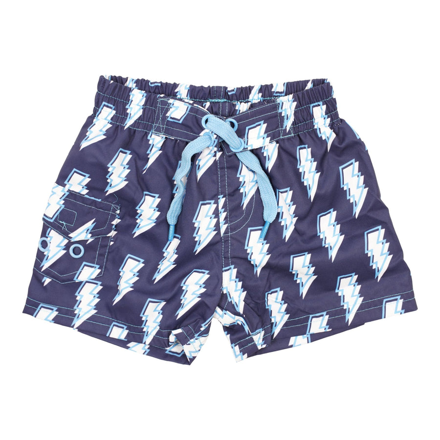 Swim Trunk with Lightning Bolts