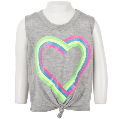 Knot Front Tank With Neon Heart