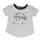 Short Sleeve Tie Front Ringer with Dream