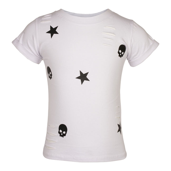 Allover Stars and Skulls Cut T-Shirt