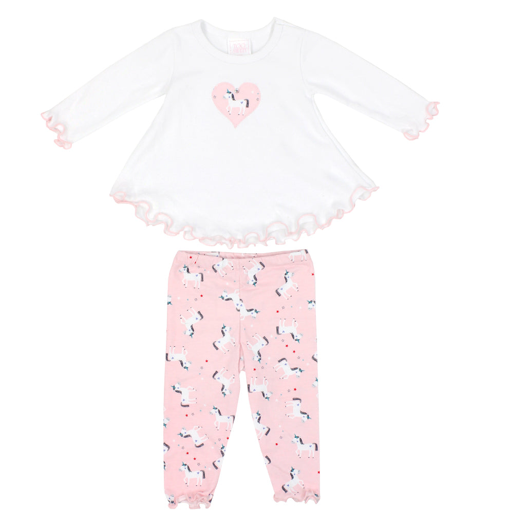Two Piece Set Unicorn Pink