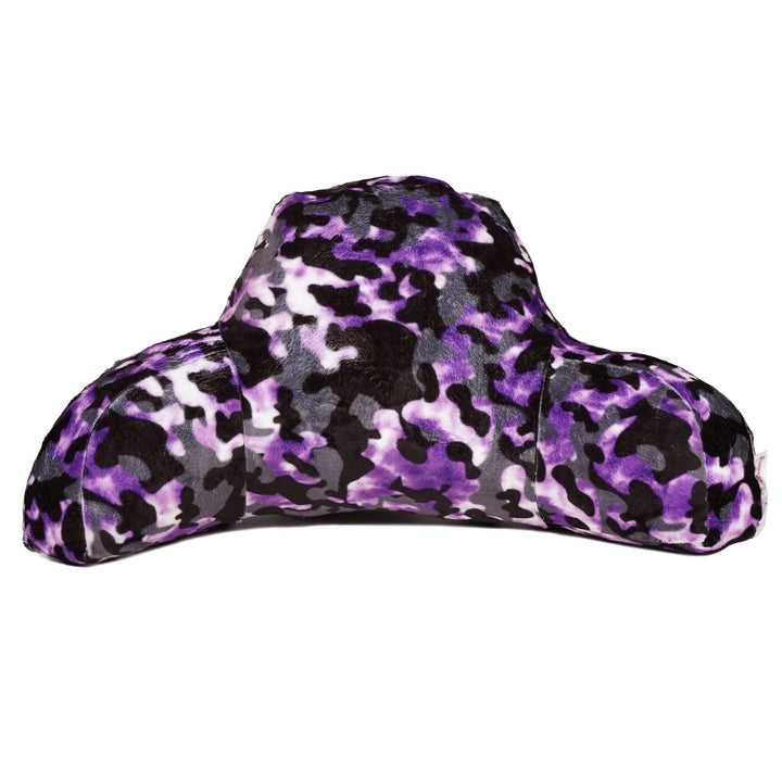 Camo Tie Dye Purple Fuzzy Boyfriend Pillow