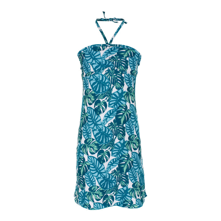 Aqua Palm Coverup Dress