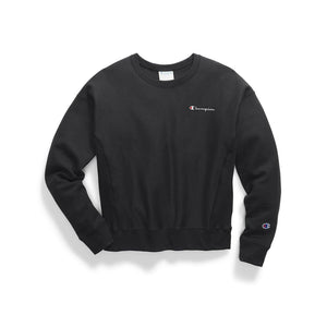 Reverse Weave Embroidered  Script Crew