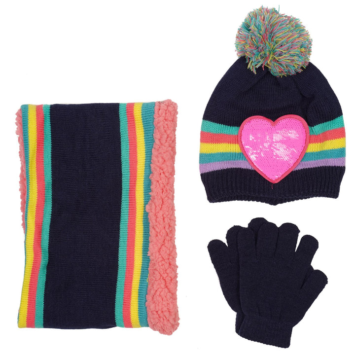 3 Piece Hat Glove and Scarf Set