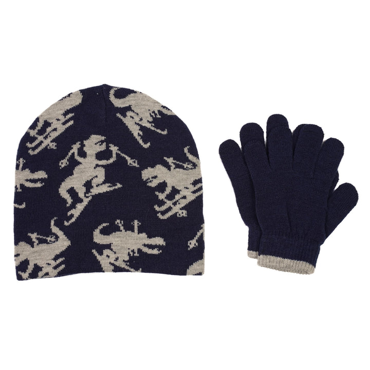 Dinosaur Beanie and Glove Set