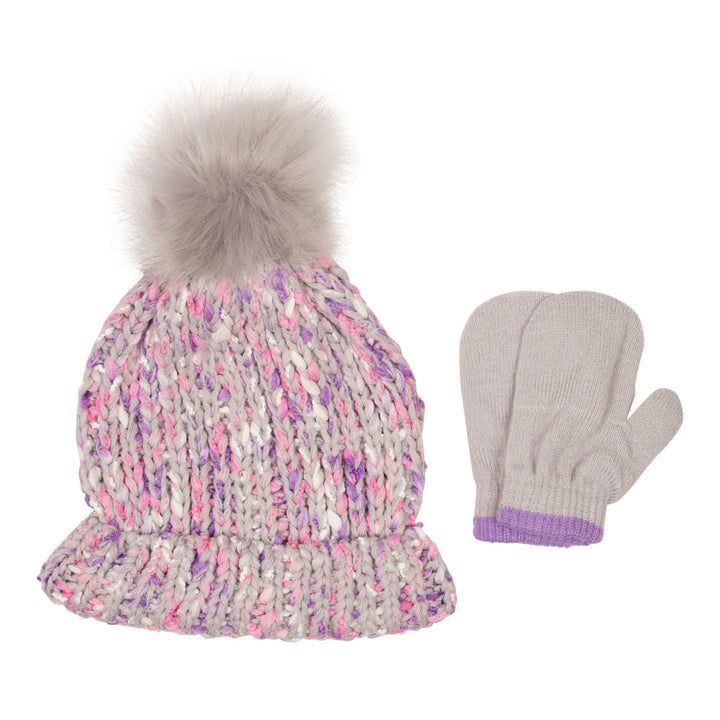 Pom Hat and Mitten Set