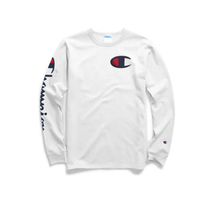 Heritage Long Sleeve Tee with Big C and Script Down Arm