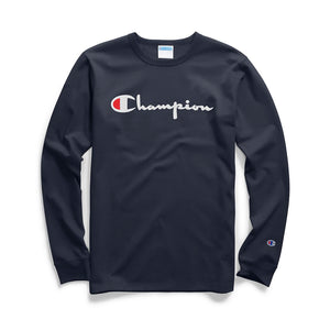 Heritage Long Sleeve Flock Script Tee
