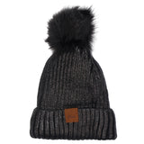 Metallic Pom Hat - Fits Sizes 7-14