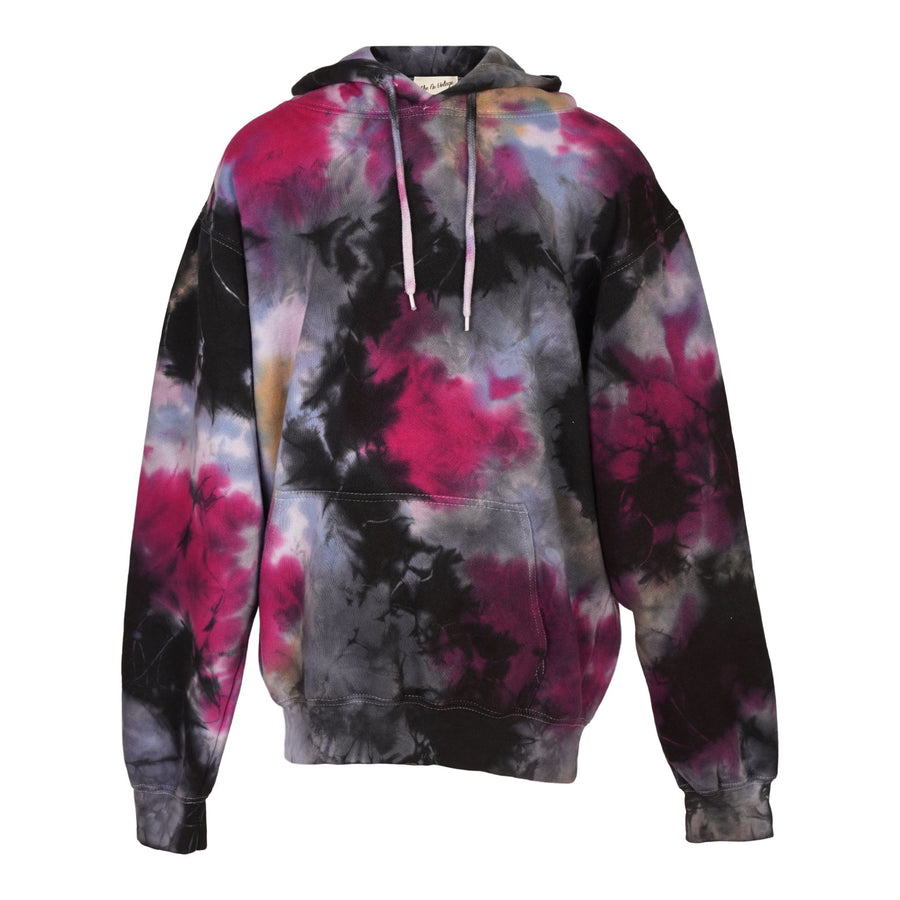 Galaxy Tie Dye Blue Purple Hooded Sweatshirt