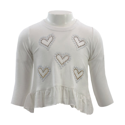 Long Sleeve Hi Lo Hearts