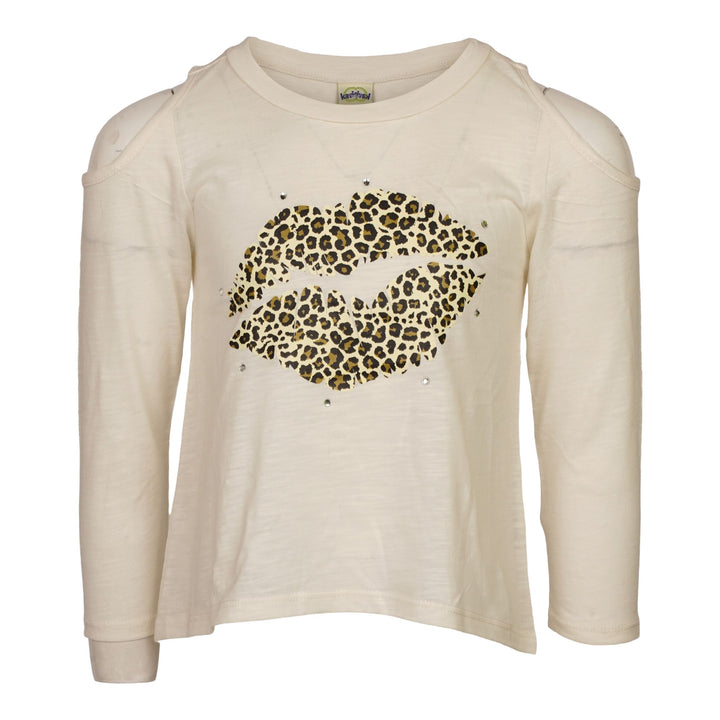 Leopard Lips and Stone Cold Shoulder Top