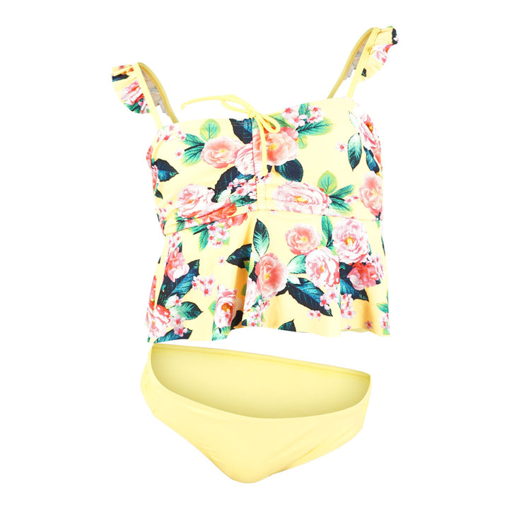 Rio Rose Tankini and Smock Side Hipster