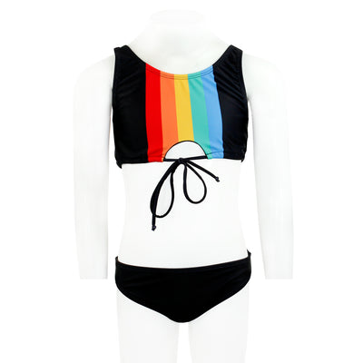 Two Piece Retro Stripe Tankini