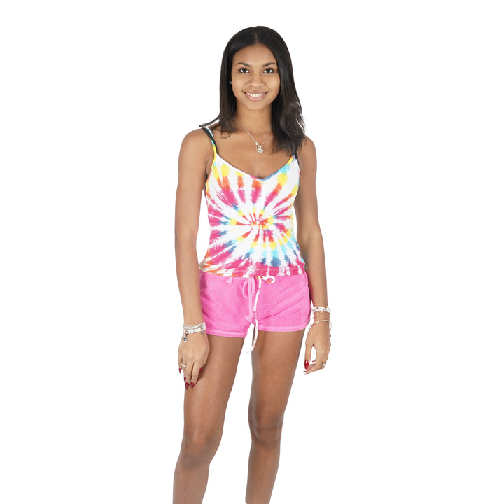 Bright Tie Dye Rouched Tank