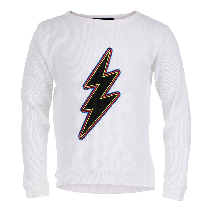 Long Sleeve Hi Lo Thermal with Neon Bolt