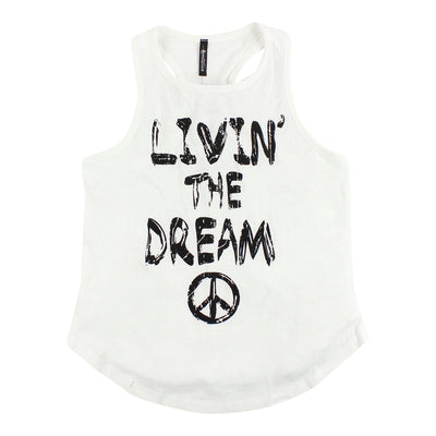 Racerback Tank with Livin The Dream Peace