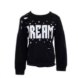 Long Sleeve Banded Top with Cuts and Dream Stars