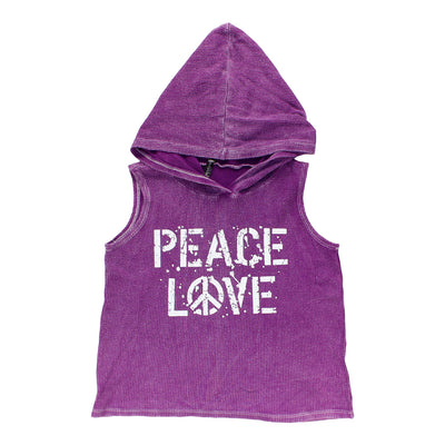 Tank Hoody with Peace Love