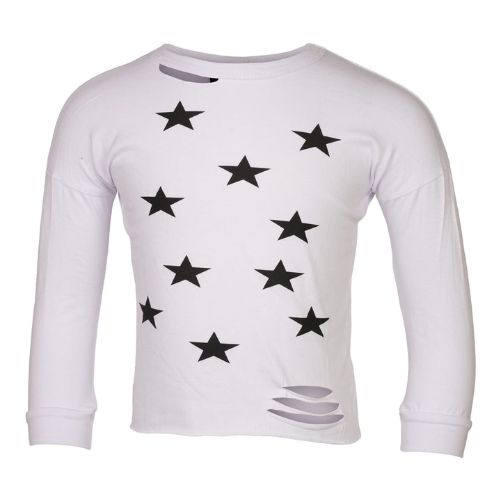 Allover Star Cut Cropped Top