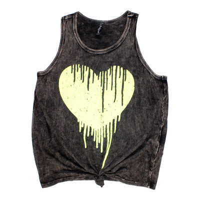 Mineral Wash Knot Tank with Drip Heart