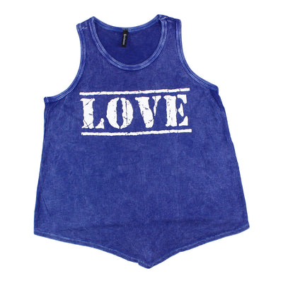 Mineral Wash Knot Tank With Love