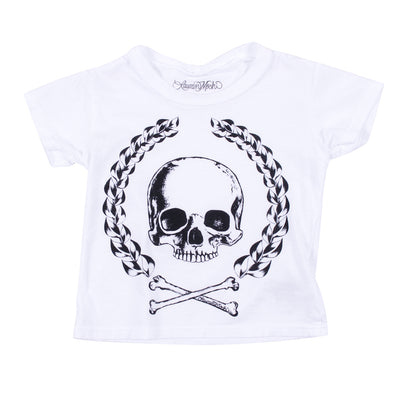 Short Sleeve Tee with Skull