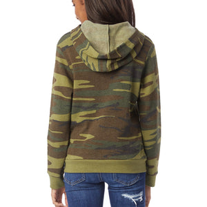 Long Sleeve Camo Pullover Hoodie