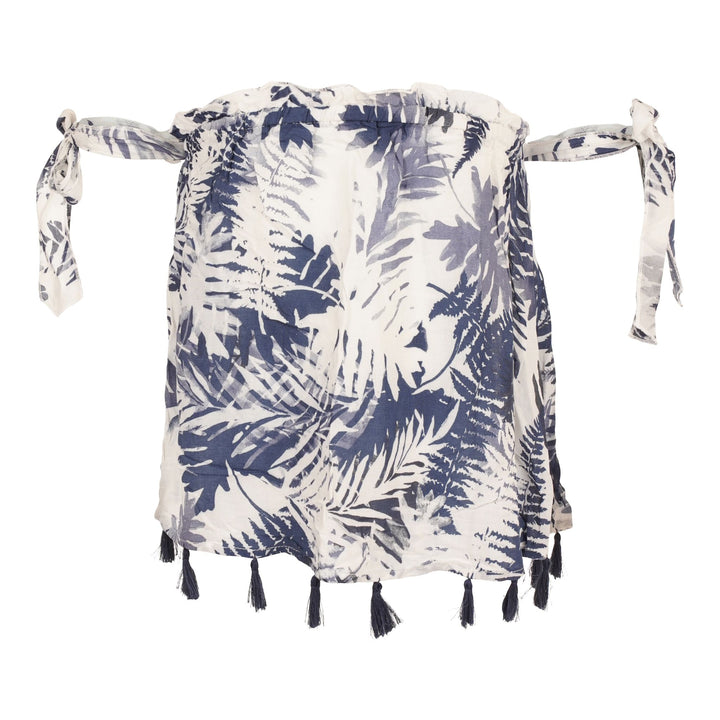 Palm Trees Off the Shoulder Top